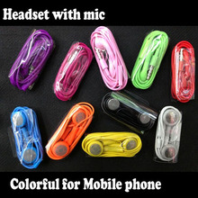 Wholesale 100pcs/lot 3.5mm Stereo Earphone Headset Headphone Earpods Kopfhorer for Iphone 7 6  5 5S 5C Iphone 4 4S Iphone 3G
