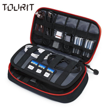 TOURIT New Travel Bags Data Cable Practical Earphone Wire Storage Bag Power Line Organizer Electric Bag Flash Disk Case Digital(China)