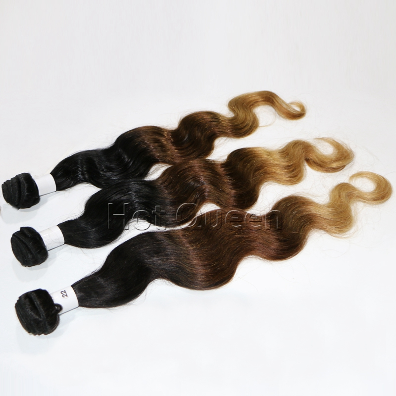 Hot Queen Hair Products T1B/4/27 Human Hair Extensions Tissage Bresilienne In Stock Ombre Brazilian Body Wave BY06<br><br>Aliexpress