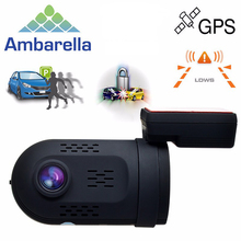 Mini 0807 Ambarella A7LA50 1080P 135 Degree GPS Capacitor Car DVR DashCam Dual Memory Solt OBD Park Guard