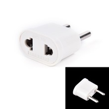 1PCS New US (USA) to EU (Europe) Travel Power Plug Adapter for USA converter White Charger Charging Adapter Converter Adaptor(China)