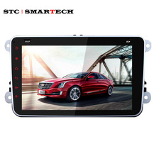 "SMARTECH 2din 8""Car PC Multimedia Player Intel 3GR GPS Navigation Steering wheel control for VW TIGUAN POLO PASSAT MAGOTAN CADDY"