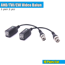20PCS HD CCTV Via Twisted Pairs Adapter HD CVI/TVI/AHD Passive Video Balun Male BNC to UTP Cat5/5e/6 Network Camera