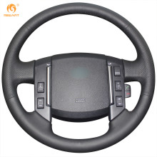 Mewant Black Artificial Leather Car Steering Wheel Cover for Land Rover Freelander 2 2007-2012