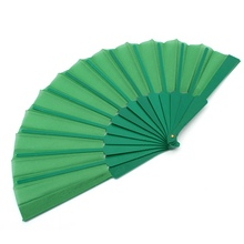 New Potable Chinese Plain Hand Held Fabric Folding Fan Summer Pocket Fan Wedding Party(China)