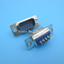 10pcs/lot Computer DB9 Male to Solder Type Adapter Connectors RS232 DB9-Male Socket