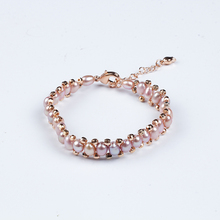 Unique super burst Pearl Bracelets for Women Mixed color Link Chain Crystal Bridal Wedding Jewelry Bracelets & Bangles special