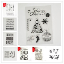 New design 1PCS/LOT Christmas Transparent clear Stamp Scroll For DIY Scrapbooking/Card Making/ Decoration Supplies