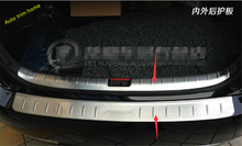 Stainless Steel Inside & Outside Rear Bumper Protector Sill Plate For Honda Accord 2013 2014 2015