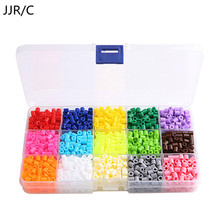 JJR/C 5mm 15 Colors 1500Pcs Pegboard Hama Peas Beads Jigsaw Puzzle Diy Educational Toys Gift For Kids Children Free Shipping(China)