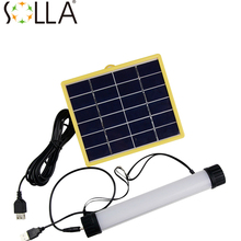 2016  3W Multifunctional Solar Power LED Tube Lamp USB Rechargeable Solar Instructions Solar Panel for Outdoor Camp Portable