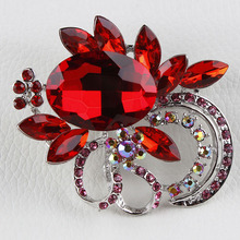 Large Shinning Acrylic Stone and Crystal Diamante Vintage Brooches for Women in assorted Colors