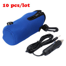 ICOCO 10pcs/lot 12V Portable DC Car Baby Bottle Warmer Heater Cover High Quality Portable Food Milk Travel Cup Covers Wholesale