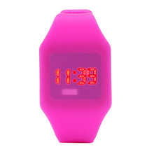 2017 New Hot Sale Mens Mens Womens Silicone LED Watch Sports Bracelet Digital Wrist Watch Dree Shipping&Wholesale(China)