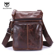 Buy Bullcaptain Genuine Leather men bags male cowhide flap bag Shoulder Crossbody bags Handbags Messenger small men Leather bag for $12.50 in AliExpress store