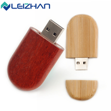 LEIZHAN USB Flash Drive personality pendrive Wood creative pen drive gift customized u disk USB2.0 flash drive 4GB 8GB 16GB 32GB(China)
