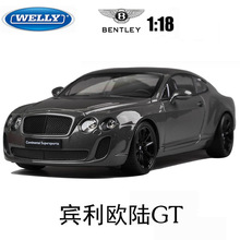 Free Shipping Wiley 1:18 High Simulation alloy model car Bentley continental GT alloy Kids Gifts
