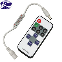 Hot Single color DC dimmer for LED strip dimmer RF Wireless Remote Controller with DC connecotr for 3528 2835 5050 led tape
