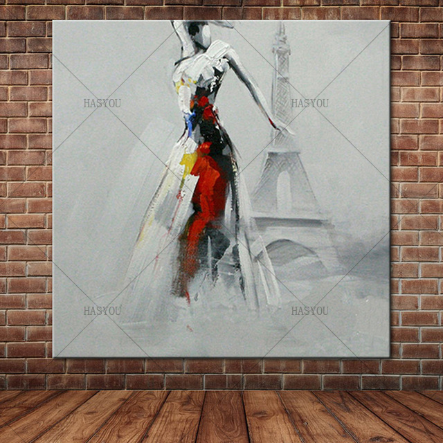 Pop-Art-Sexy-Lady-Dancing-in-Front-of-Eiffel-Tower-Oil-Painting-Modern-Knife-Painted-Painting.jpg_640x640