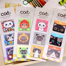 3 Pcs/lot cat Cartoon Kawaii Stationery Magnetic Bookmark For Books Mark Clips Office Teacher Gift Kids School Supplies(China)