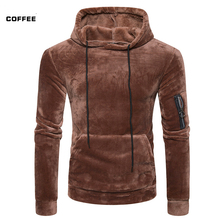 HOT2017 winter autumn men coral fleece big sack fleece warm thermal hip hop thiken wool head hooded jacket men's hoodies(China)