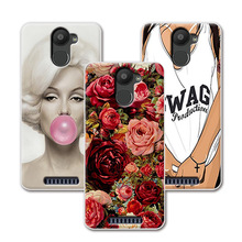 "Painted Cute Cartoon Grid Style Soft TPU Phone Case For BQ Aquaris U Plus Case Cover Funda For BQ Aquaris U Plus 5""+Free Gift"