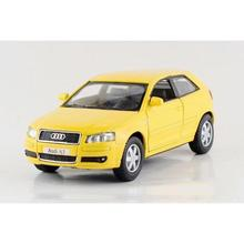 Children Kids Kinsmart Audi A3 Model Car 1:32 KT5356 5inch Diecast Metal Alloy Cars Toy Pull Back Gift