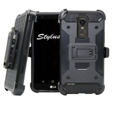 Heavy Duty Hybrid Steel Armor Case Tank Designed Holster With Belt Clip Shockproof Hard Cover For LG Stylo 3/Stylus 3/K10 Pro  }