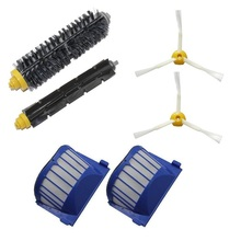 High Quality Can Track Bristle & Flexible Beater 2 Armed Brush & 2 Aero Vac Filter For iRobot Roomba 600 Series 620 630 650 660