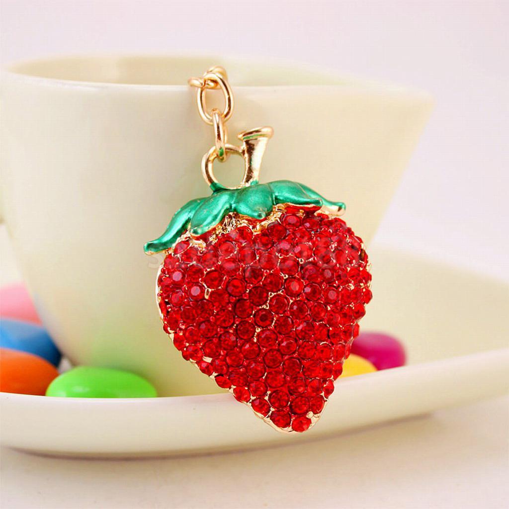 Detail Feedback Questions about Cute Strawberry Keychain Keyring Car ... 60c024164