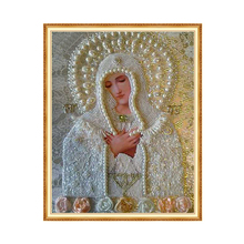 Diamond Painting Religious Pearl Our Lady Cross Stitch Diamond Embroidery DIY 5D 5d Round Diamond Painting Handmade Painting