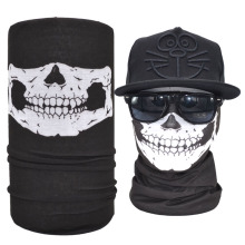 Cheap Sale Black Classic Skull Bandana Skull Face Shield Tube Headwear Scarf Promotional