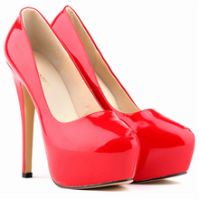 LOSLANDIFEN Platform Pumps Women Sexy Extremely High Heels Shoes Bridal Stiletto Red Ladies Wedding Party Shoes 817-1PA