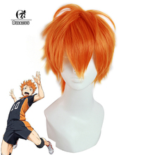 ROLECOS Japanese Anime Haikyuu Cosplay Headwear Shoyo Hinata 25cm Men Cosplay Short Orange Cosplay Synthetic Hair(China)