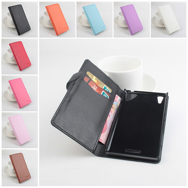 Sony Xperia T3 M50W D5103 Case Wallet Stand Flip Leather Cover Sony Xperia T3 Card Holder Smart Stand Skin Bags
