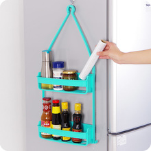 Creative Double layer Wall Mounted Sink Corner Kitchen Storage Holder Bathroom Holder Shelves for Bathroom Wall Shelf Shelving