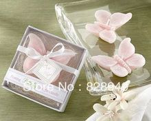wedding party favor candle gift for guests --Pink butterfly candle Baby shower birthday party favors presents 80pcs/lot