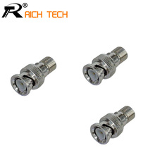 R Connector Wholesale BNC MALE TO F FEMALE adapter BNC Male Plug to F Type Female Jack TV Adapter RF Coax Connector 3pcs