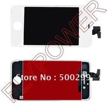 For iphone 4S lcd screen display  with touch digitizer +frame assembly by DHL UPS or EMS; white color; 20pcs/lot
