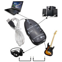 Guitar Accessories Electric Guitar Interface Link Audio USB Cable Adapter Audio Effects Regulator For Windows XP Recording(China)