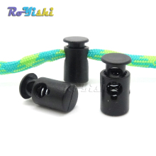 100pcs/pack Mini Cord Lock Stopper Widely Used For Garment Accessories/Bags/Shoe Lace Black