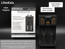 LiitoKala lii202 18650 Battery Charger lii100 For 1.2V/3.7V/3.2V/AA/AAA/18650/26650/14500/16340/17500/Rechargeable Batteries