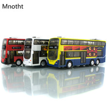 Collection 1:32 London Bus Double Decker Bus Model Metal Toy Car RED Red/Yellow/White Diecast Car Model Children Toys