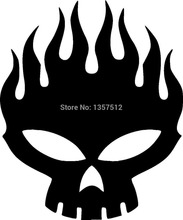 Free Shipping Skull Fire Flame Car Sticker For Truck Window Bumper Auto SUV Door Kayak Vinyl Decal 8 Colors