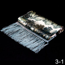 100% Silk Scarf Men Scarf Mountains and Lake Long Silk Shawl 2017 Designer Scarf Top Print Male Shawl Hot Luxury Gift for Men