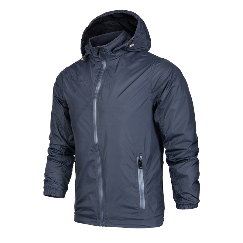 2017 New Fashion Men Jacket Men's Casual Jacket Thin Men Windbreaker Hooded Fashion Zipper Jackets Coat Outwear size XL XXL 3XL
