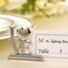 10pcs Wedding Decoration place card holder Wedding guests Metal Love place card Rcard holder wedding event & party supplies(China)
