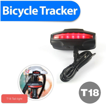 Waterproof IPX7 LED Taillingt bike gps trackers Bicycle gps tracker GPS/GSM/GPRS Quad Band Real-time Google Map Tracking System
