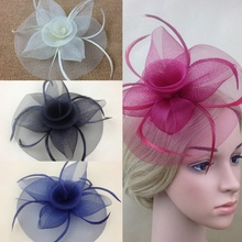 Lady Elegant Fascinator Hat Clips Hairpins Hair Accessories Wedding Party Church KH78(China)