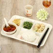 Hot Sale Chinese restaurant Fast food plate High grade A5 melamine Staff canteen plates 3 sets Free Shipping
